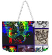 Dragon Collage Weekender Tote Bag