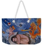 Dragon Hand Embroidery Weekender Tote Bag