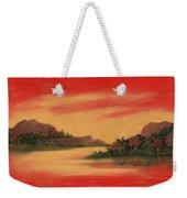 Dragon Sunset Weekender Tote Bag