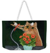 Dragonfly And Cat Weekender Tote Bag