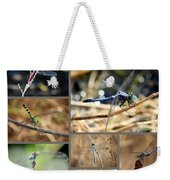 Dragonfly Collage Weekender Tote Bag