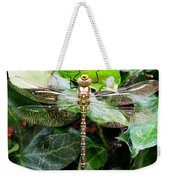 Dragonfly In An English Garden Weekender Tote Bag