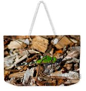 Dragonfly In Mulch Weekender Tote Bag