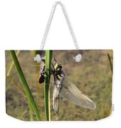Dragonfly Newly Emerged - Second In Series Weekender Tote Bag