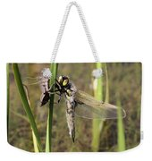 Dragonfly Newly Emerged - Third In Series Weekender Tote Bag