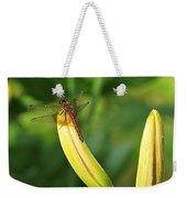 Dragonfly On Bud Weekender Tote Bag