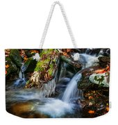 Dragons Teeth Icicles Waterfall Great Smoky Mountains Painted  Weekender Tote Bag