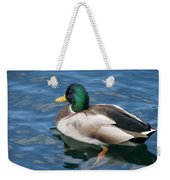 Green Headed Mallard Duck Weekender Tote Bag