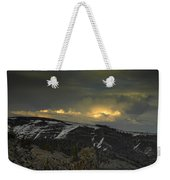 Drama Is Coming Weekender Tote Bag by Donna Blackhall