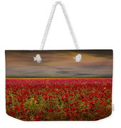 Drama Over The Flower Fields Weekender Tote Bag
