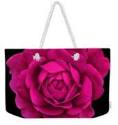 Dramatic Hot Pink Rose Portrait Weekender Tote Bag