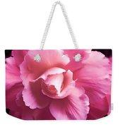 Dramatic Pink Begonia Floral Weekender Tote Bag