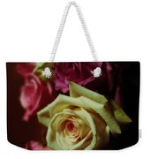 Dramatic Purple And Yellow Roses Weekender Tote Bag