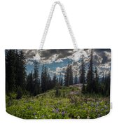 Dramatic Rainier Flower Meadows Weekender Tote Bag