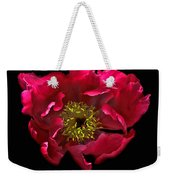 Dramatic Red Peony Flower Weekender Tote Bag