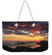 Dramatic Sunset Over Dubrovnik Croatia Weekender Tote Bag