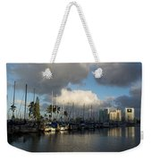 Dramatic Tropical Storm Light Over Honolulu Hawaii  Weekender Tote Bag