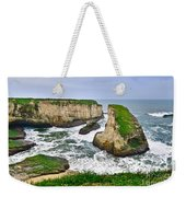 Dramatic View Of Shark Fin Cove In Santa Cruz California. Weekender Tote Bag