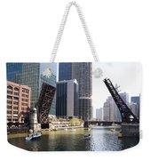 Draw Bridges Of Chicago Weekender Tote Bag