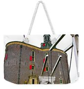 Drawbridge And Tower In Enkhuizen-netherlands Weekender Tote Bag