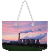 Drax Power Station At Sunset Weekender Tote Bag