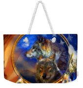 Dream Catcher - Wolf Dreams Patriotic Weekender Tote Bag