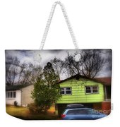 Suburban Dream - House With Blue Car Weekender Tote Bag