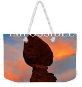 Dream The Impossible Card Poster Two Weekender Tote Bag