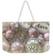 Dreamy Angel Christmas Holiday Shabby Chic Love Print - Holiday Angel Art Romantic Holiday Ornaments Weekender Tote Bag