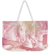 Dreamy Baby Pink Merry Go Round Carousel Horses - Pink Carousel Horses Baby Girl Nursery Decor Weekender Tote Bag