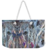 Dreamy Blue Up-dog Yoga Art Weekender Tote Bag