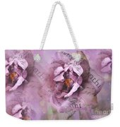 Dreamy Purple Lavender Impressionistic Abstract Floral Art Photography Weekender Tote Bag