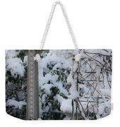 Dreamy Snowy Cross Weekender Tote Bag