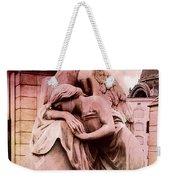 Dreamy Surreal Beautiful Angel Art Photograph - Angel Mourning Weeping At Gravestone  Weekender Tote Bag