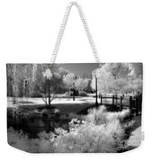 Surreal Infrared Black White Infrared Nature Landscape - Infrared Photography Weekender Tote Bag