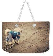 Dressed Up Dog Weekender Tote Bag