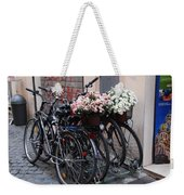 Dressing Up The Bicycle Stand Weekender Tote Bag