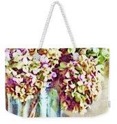 Dried Autumn Hydrangeas - Digital Paint Weekender Tote Bag
