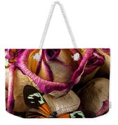 Dried Rose And Butterfly Weekender Tote Bag