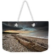 Driftwood Laying On The Gravel Beach Weekender Tote Bag