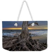 Driftwood On Jekyll Island Weekender Tote Bag by Debra and Dave Vanderlaan