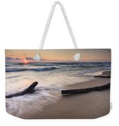 Driftwood On The Beach Weekender Tote Bag by Adam Romanowicz