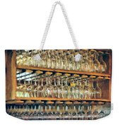 Drinks On The House In Smoky Gold Weekender Tote Bag