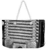 Drive In Movie Speaker In Black And White Weekender Tote Bag