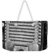 Drive In Movie Speaker In Black And White Weekender Tote Bag