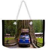 Drive Through Redwood Tree Weekender Tote Bag