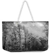 Drive Through The Mountains Bw Weekender Tote Bag