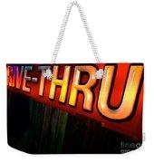 Drive Thru Weekender Tote Bag