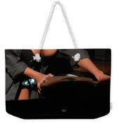 Drivers View Of A Pinup Girl Weekender Tote Bag