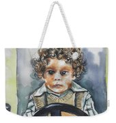 Driving The Taxi Weekender Tote Bag